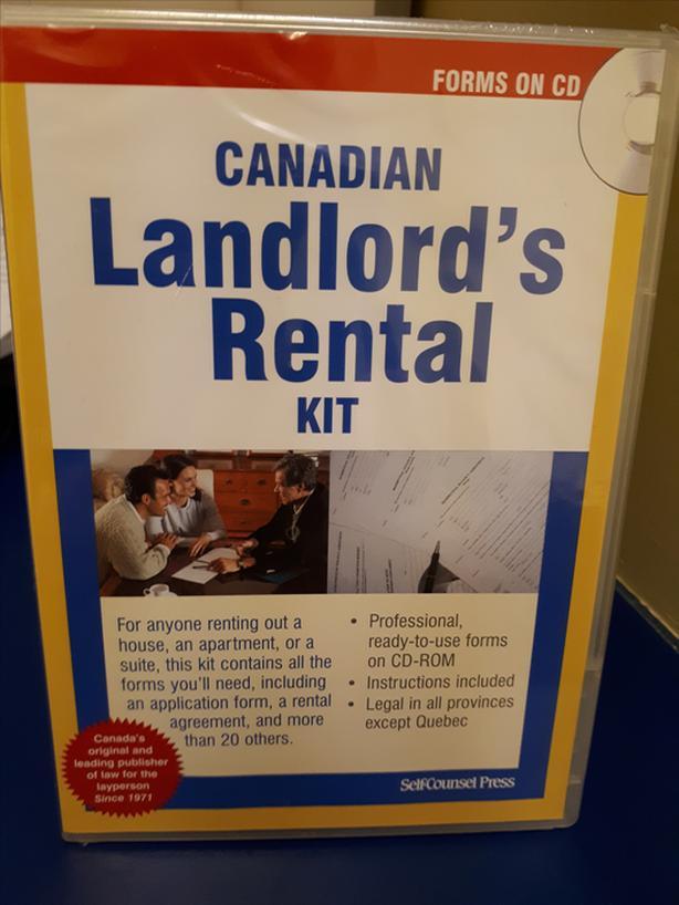 Best Canadian Landlord's Rental Kit CD W/AllRentalFormsBySelfCounselPress