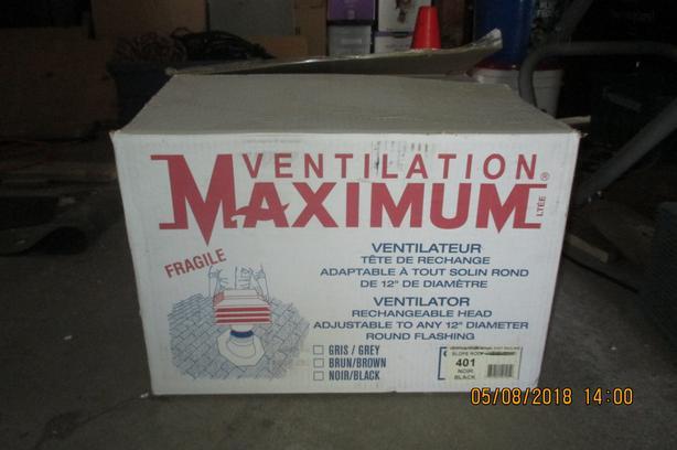 """Maximum Air Vent - 12"""" Round Flashing Mount"""