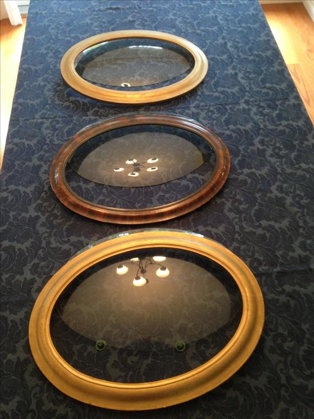 Antique Oval Bubble Convex Glass Frames Saanich Victoria
