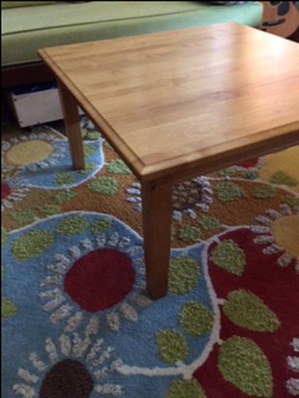 solid alder wood coffee table