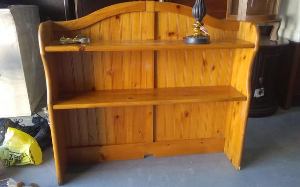 wood bookshelf in great condition