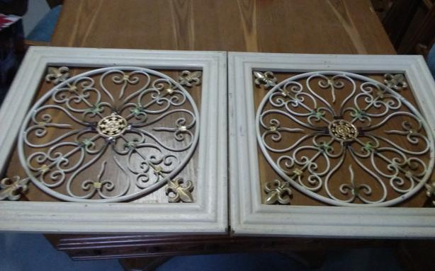 "set of 2 wall decor unit 22"" x 22"""