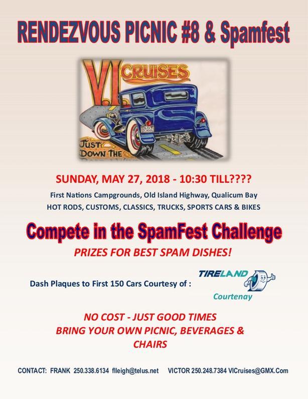 8th Annual Spamfest & Picnic Rendezvous Car Show - Qualicum Bay
