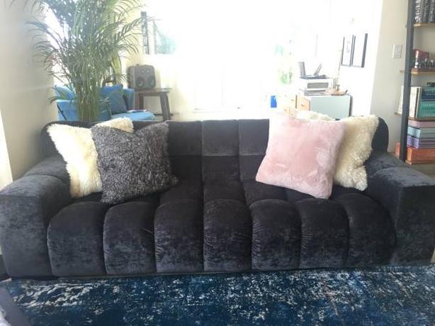 European Grey Couch / Sofa