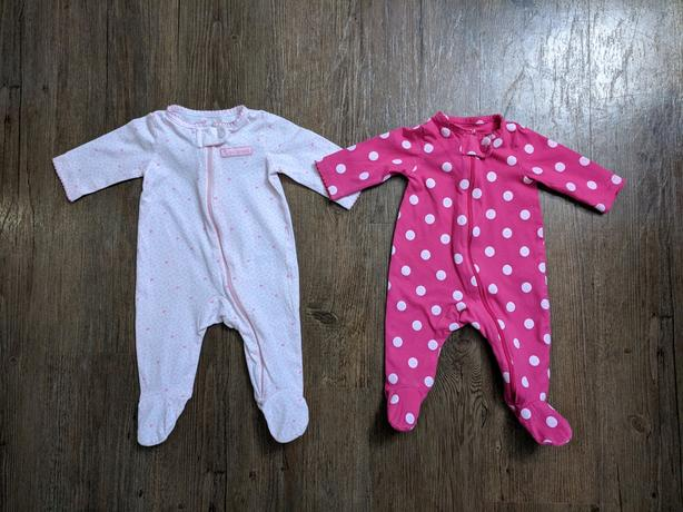 82d1a27ca24d VGUC - Newborn Set of 2 Carters Child of Mine zip up footed sleepers ...