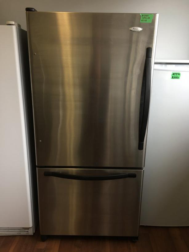  Log In needed $595 · Whirlpool gold stainless steel bottom mount fridge