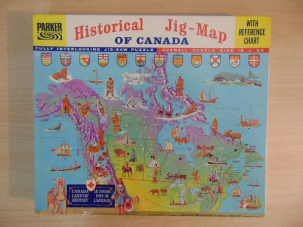 Map Of Canada Puzzle.Child Jigsaw Puzzle Vintage Parker Map Of Canada 1966 Centennial