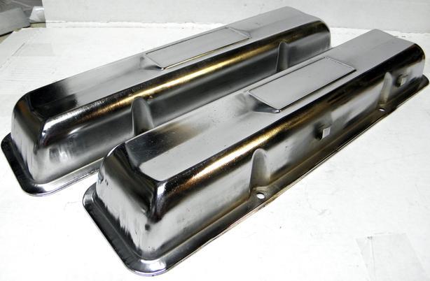 1965 66 67 Chevy II Nova Chevelle 327-350HP L79 Chrome Valve Covers