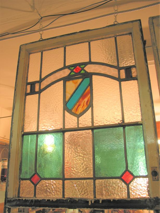 variety of vintage stained glass windows