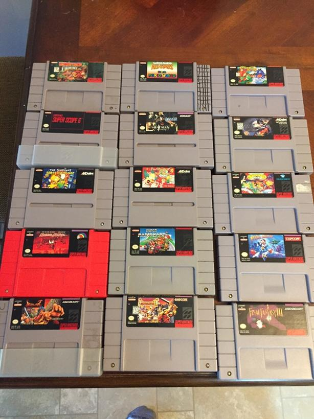  Log In needed $450 · 46 SNES games many rare, Super Scope, 2 controllers