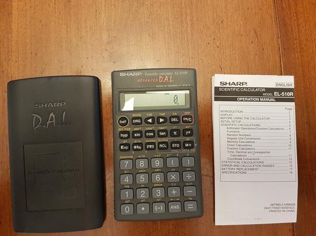 sharp el 510r scientific calculator used at uvic central saanich rh usedvictoria com Canon Scientific Calculator Scientific Calculator TI-30X