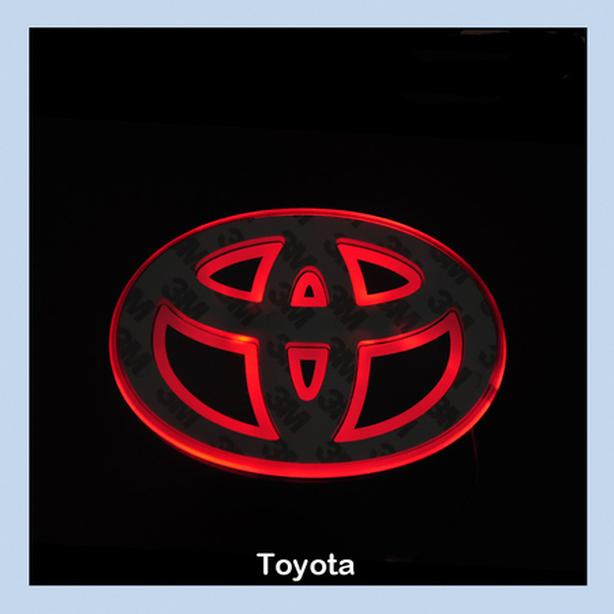 Brand New Universal RED LED Car Logo Badge Emblem fits TOYOTA