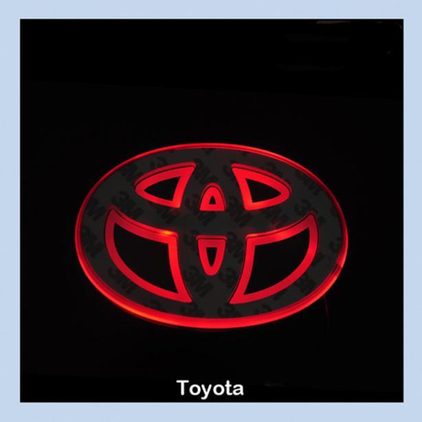 Brand New Universal RED LED Car Logo Badge Emblem fits TOYOTA