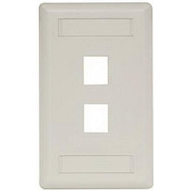 HUBBELL 1 Gang 2 Port Wall Plate - Office White (IFP12OW)