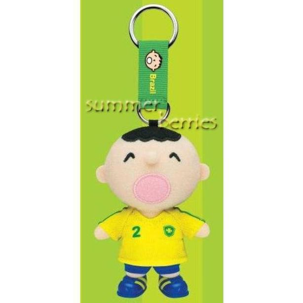 Sanrio minna no tabo 2010 World Cup Plush Keychain - #2 Brazil