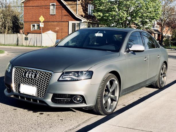 One-of-a-kind 2010 Audi A4 Quattro Premium Plus $5k Upgrades Gunmetal Matte Wrap