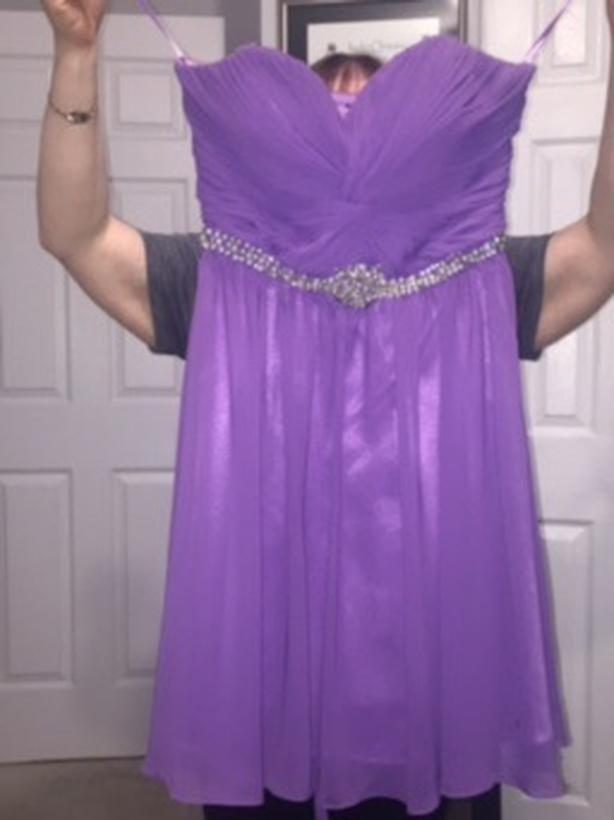 Graduation purple dress