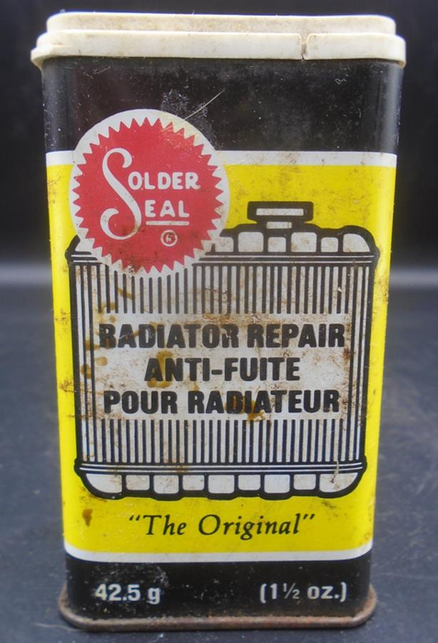 VINTAGE 1980's SOLDER SEAL RADIATOR REPAIR (1.5 OZ.) TIN CAN