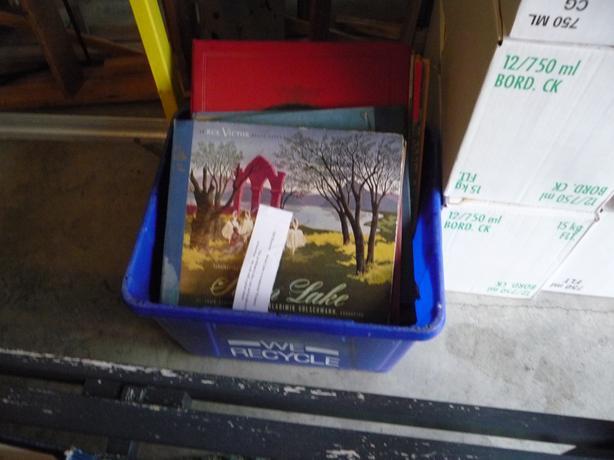 Box of 78 records