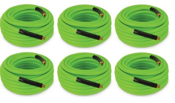 NEW CASE OF 6 50FT AIR HOSE HYBRID