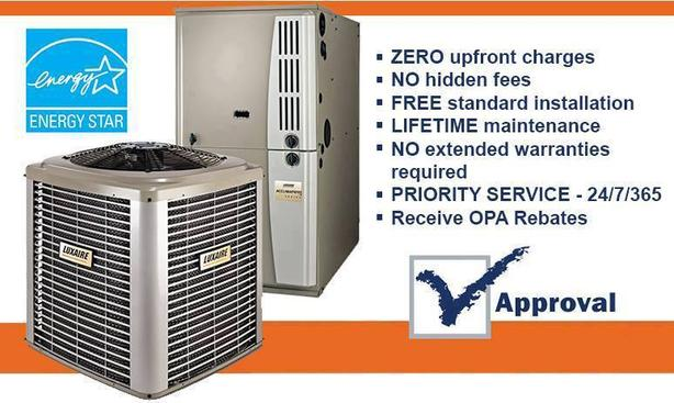 HIGH EFFICIENCY FURNACE - AIR CONDITIONER RENT TO OWN FREE UPGRADE