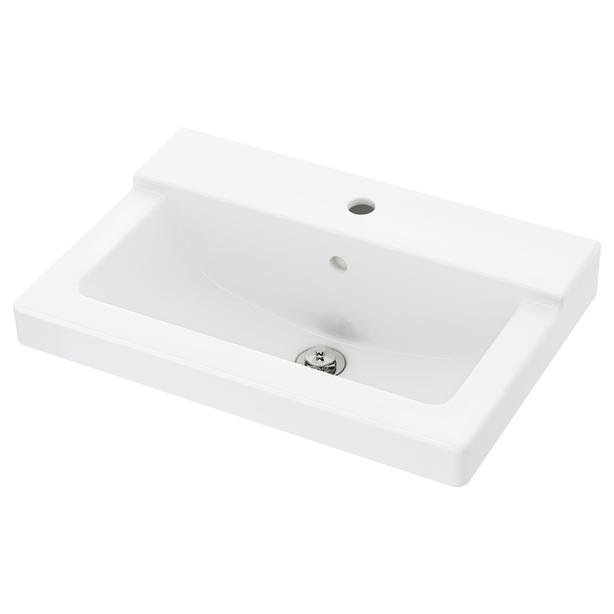 Ikea HOLLVIKEN Sink - White - 80cm