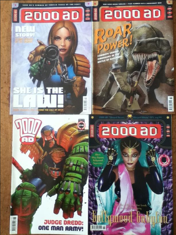 1000+ British 2000 A.D. Comic Mags, $1 - $2 ea or $750 for all!