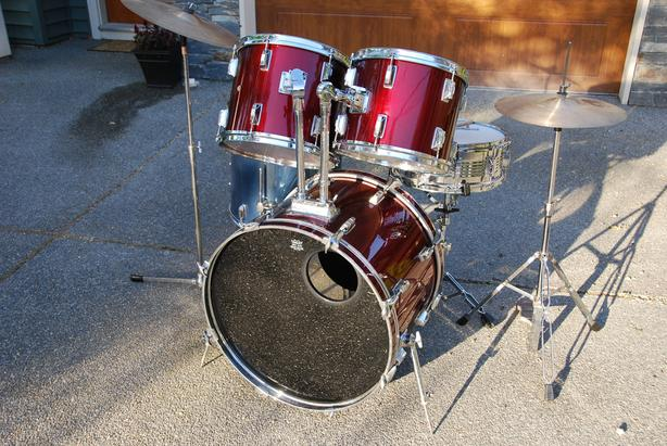FULL SIZE STUDENT DRUM SET - TUNED AND READY!