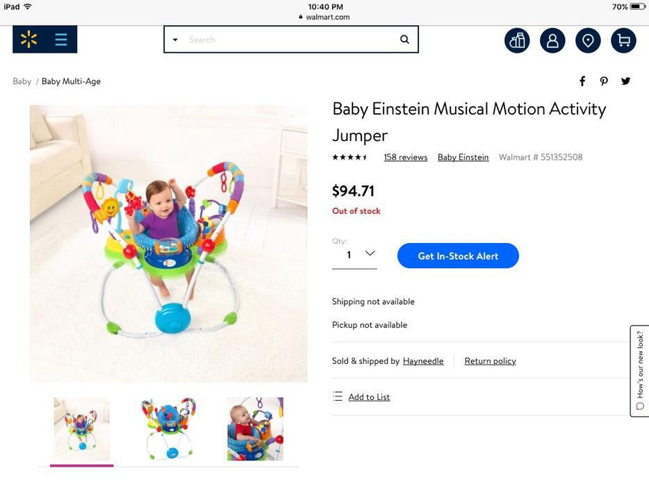 fdd3efa40b52 Baby Einstein Musical Motion Jumper Central Saanich