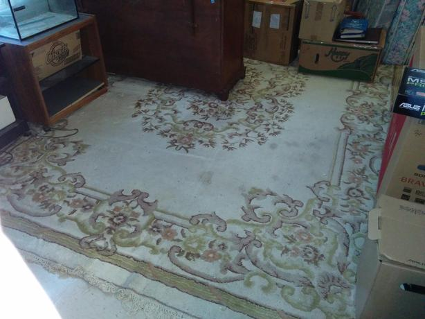 12' x 8'-9' Wool Area Carpet For Sale