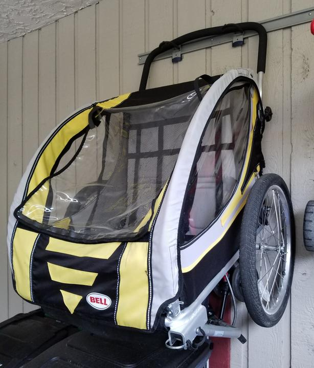 Bell Double Seat Bike Trailer & Jogging Stroller Combo ...