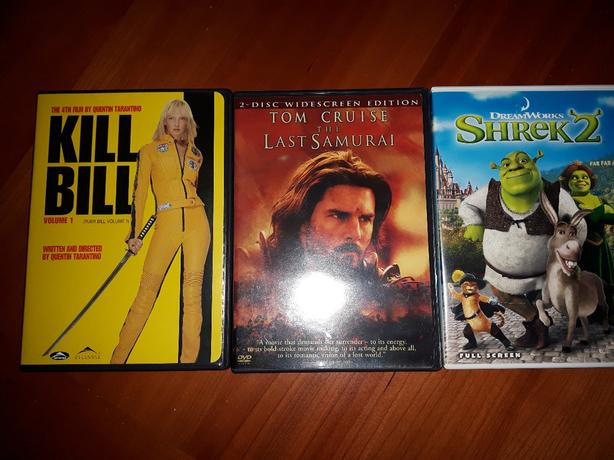 three DVDs