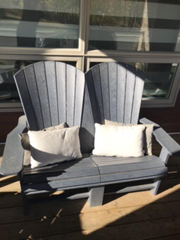 Adirondack Loveseat & 2 Rocking Chairs
