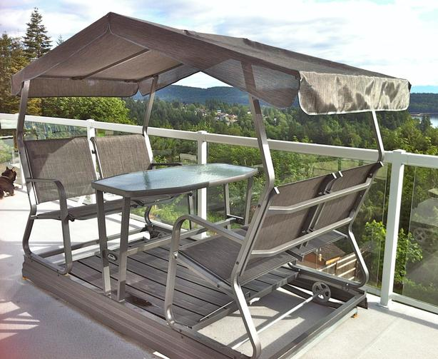 Veranda Outdoor Covered Glider Rocker Ladysmith, Cowichan