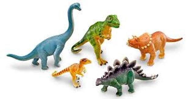 5 Large Dinosaur Figures (approx 6 -8 inches)
