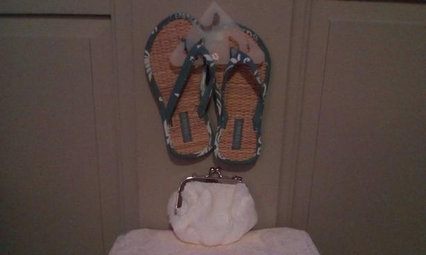 FREE Change purse & flip flops