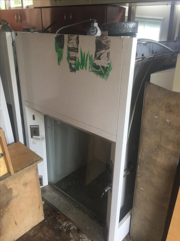 Chemical fume hood ($400) with sealed fan ($400)