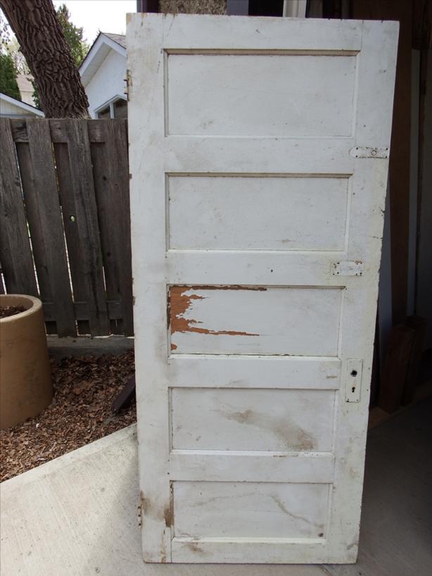 Vintage wood panel door