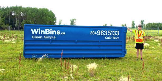 WinBins.ca ~~ BIN RENTALS ~ 4, 12, 20 Yard Bins ~ 204-963-5133