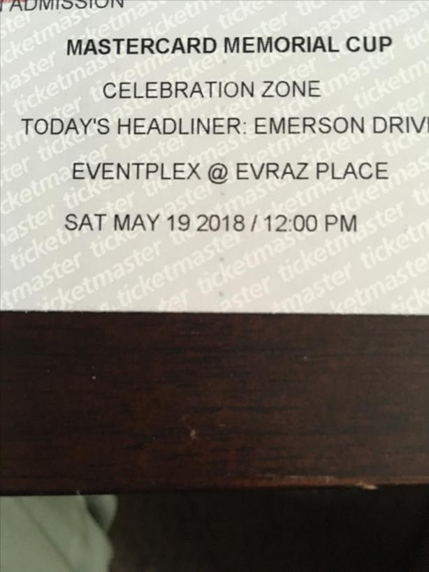 Emerson Drive  Pair of tickets  $50  obo