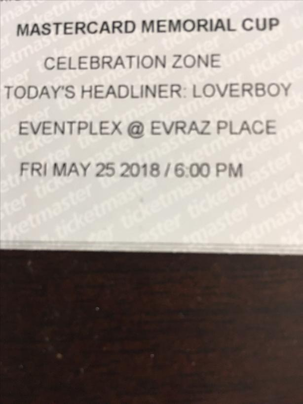 Pair tickets for Loverboy