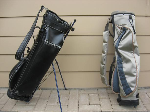 2 GOLF BAGS,  34 CLUBS,  4 DOZ. BALLS