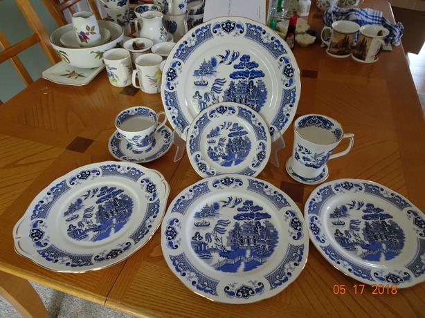 Duchess Willow Blue and White Bone China Set