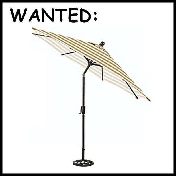 WANTED: Clean 4u0027   6u0027 Diameter Patio Umbrella With Tilting Pole