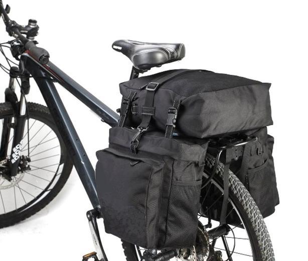 Bicycle Bike Rear Rack Water Resistant Double Pannier Bag - 37L