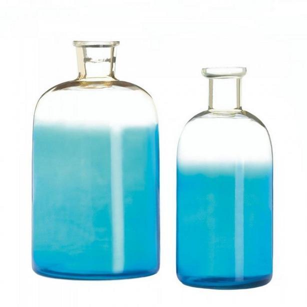 Blue Bottle Jar Jug Vase Set Bulk Buy 3 Sets 6PC Brand New