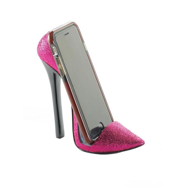 Stiletto High Heel Shoe Phone Holder Pink Black 2 Styles 10PC Choice