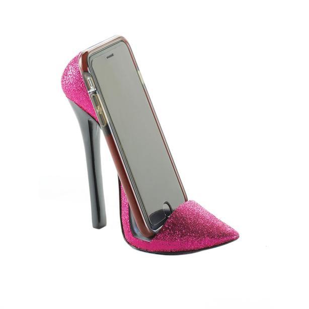 Stiletto High Heel Shoe Phone Holder Pink Black 2 Styles 10PC Choice