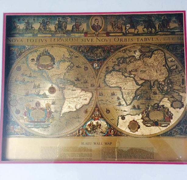 Blaeu World Map.Blaeu World Map Esquimalt View Royal Victoria
