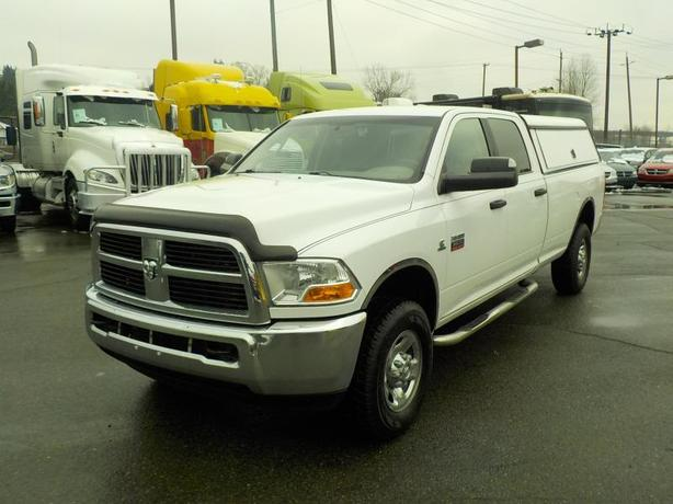 2012 Dodge RAM 3500 SLT Crew Cab Long Box 4WD Diesel with Service Canopy